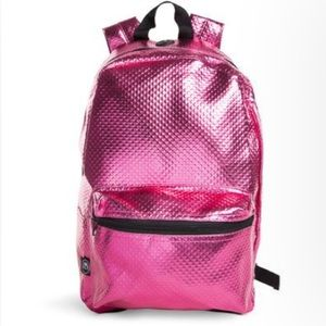 Handbags - NWOT Pink Metallic Backpack